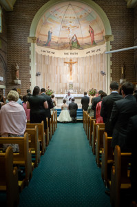 ceremony-during-Sydney-Wedding-at-St-Martha's-Catholic-Church-taken-by-Canberra-wedding-photographer-biblino-images