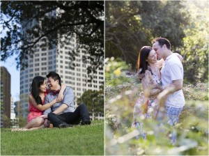 Two-couples-during-a-Canberra-engagnement-session-at-a-park