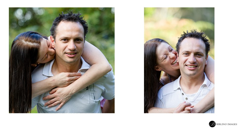 Engaged-couple-being-silly-with-each-ther-while-having-their-portraits-taken-by-Biblino-Images