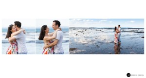Engaged-couple-hugging-while-portraits-are-taken-of-them-by-Biblino-Images