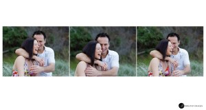 Engaged-couple-laughing-while-having-their-portraits-taken-by-Biblino-Images
