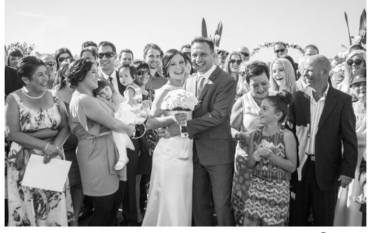 Outdoor Catholic Wedding, Brays Bay Reserve