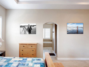 Large-wall-canvas-wedding-portrait-bedroom