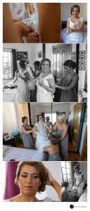 Bride-and-bridemaids-getting-ready-at-the-house