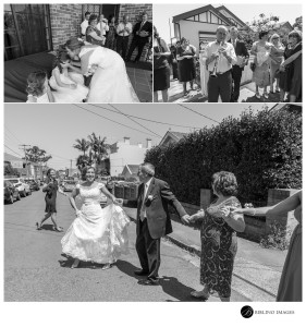Bride-and-parents-greek-dance-on-the-street-before-going-to-the-ceremony
