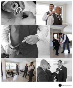Groom-and-groomsmens-getting-ready-at-the-house