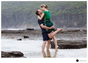 Young-couple-pose-during-thier-engagement-session-down-the-south-coast-of-NSW