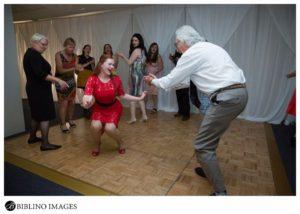 Maid of honour dances