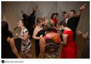 wedding guests dance at Rydges hotel
