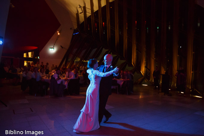 Bride and groom dance at the NMA