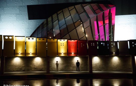 National Museum of Australia night wedding portraits