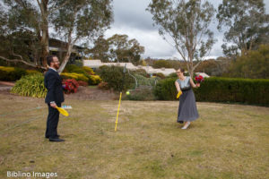 Totum tennis during bridal party photos