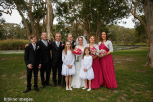 Bridal party at Centennial park