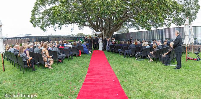 Panorama of the wedding ceremony.