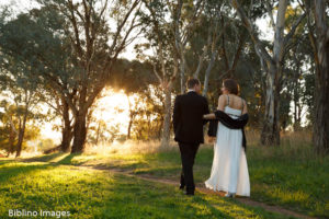 Small sunset wedding