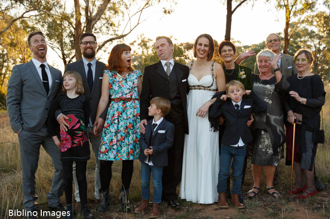 funny wedding group photo