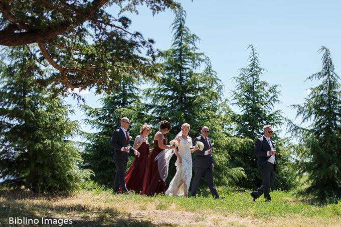 Bridal party at the cedar forest